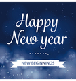 happy new year calligraphy card design vector image