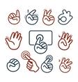 Isolated abstract social network logo set Human vector image