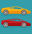 isolated sport cars flat design style vector image