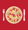 pizzeria concept pizza in plate vector image