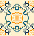 Seamless indian mandala pattern for printing on vector image