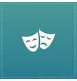 Theater icon with happy and sad masks vector image