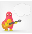 Funny Monster Guitarist vector image vector image
