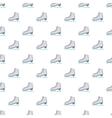 Skates pattern cartoon style vector image