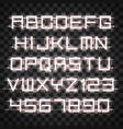 glowing white neon alphabet vector image
