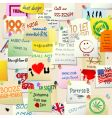 college wall adverts vector image