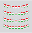 hungary bunting vector image