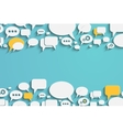 Speech bubbles and dialog balloons vector image