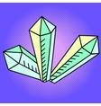 Crystal Pop art vector image