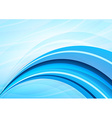 Blue and white waves background vector image