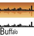 Buffalo skyline in orange background vector image
