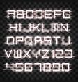 glowing white neon alphabet vector image