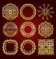Gold mandala set Red version vector image