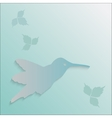 hummingbird silhouette vector image