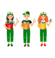 kids learning recycle trash waste recycling vector image