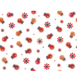 ladybugs flowers red vector image