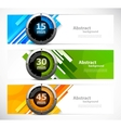 Set of banners with timers vector image