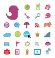 Social color Media color Icon Network vector image