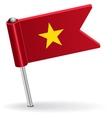 Vietnamese pin icon flag vector image