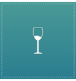 Wine glass icon Alcohol drink symbol vector image