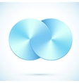Blue circles infinity vector image