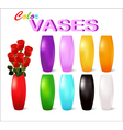 Color vases vector image