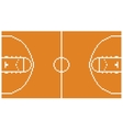 pixel art basketball sport court layout retro 8 vector image