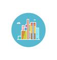 Modern buildings icon city icon vector image