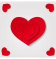 hearts grey vector image