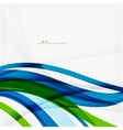 Green blue wave lines vector image vector image