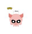 Halloween Mask skull of a pig Dear head of vector image