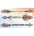 Ethnic decorative text arrows set in tattoo style vector image