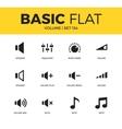 Basic set of icons vector image