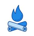 campfire line icon vector image