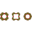 Christmas wreaths vector image