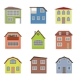 Colourful home icon collection vector image