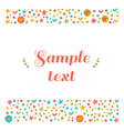 Cute greeting card with floral design elements vector image