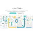 elegant thin flat line success concept vector image