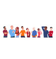 group of people mix race cartoon of different age vector image