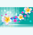 hello summer natural floral background vector image
