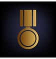 Medal sign Golden style icon vector image