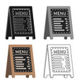 menu of pizzeria icon in cartoon style isolated on vector image