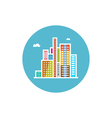Modern buildings icon city icon vector image