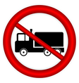 No cargo car road sign vector image
