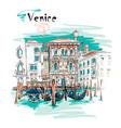 palazzo on the grand canal in venice italia vector image