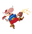 Pirate with sausage vector image