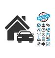 Property Flat Icon with Bonus vector image