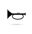 trumpet icon black vector image
