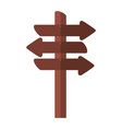 wooden signal with arrows vector image