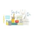 Mathematics Class Set Of Objects vector image